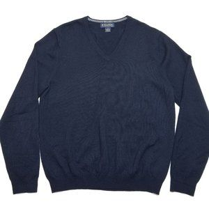 Brooks Brothers Vneck Sweater - Black - Extra Fine